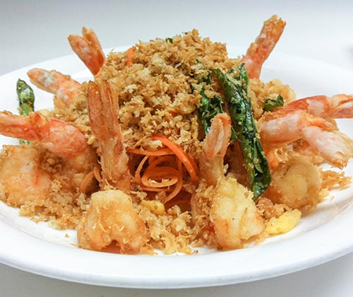 60. Crispy Oat Jumbo Shrimp